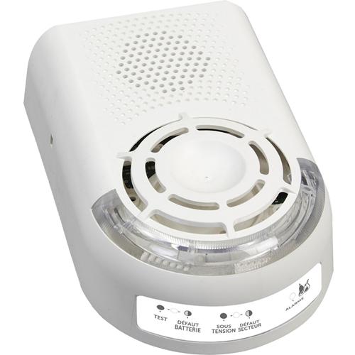 Alarme de Sécurité FINSECUR Sonora BAAS-Sa - Filaire - 230 V AC - 90 dB - Audible, Visuel - Blanc