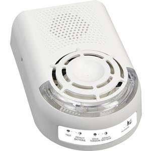 Alarme de Sécurité FINSECUR Sonora BAAS-Sa - Filaire - 230 V AC - Audible, Visuel - Blanc