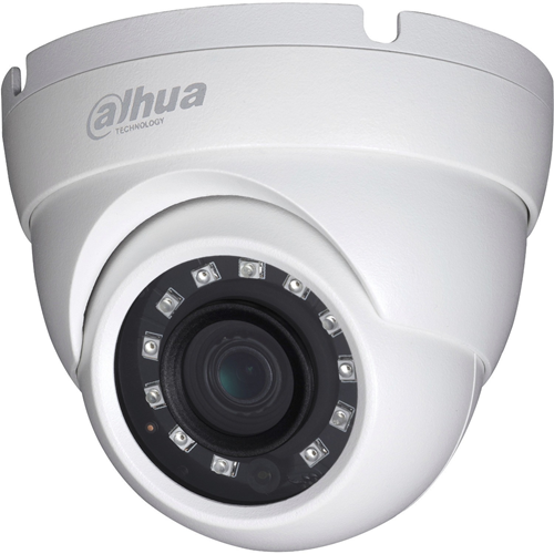 Caméra de surveillance Dahua Lite DH-HAC-HDW1230M 2 Mégapixels - Sphérique - 30 m Night Vision - 1920 x 1080 - CMOS - Support pour boîte de jonction, Montant, Fixation murale