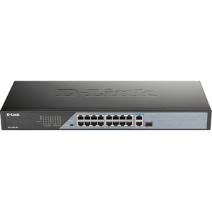 Commutateur Ethernet D-Link DSS-100E-18P 18 Ports - 2 Couche supportée - Modulaire - 230 W Budget PoE - Paire torsadée, Fibre Optique - PoE Ports - Bureau