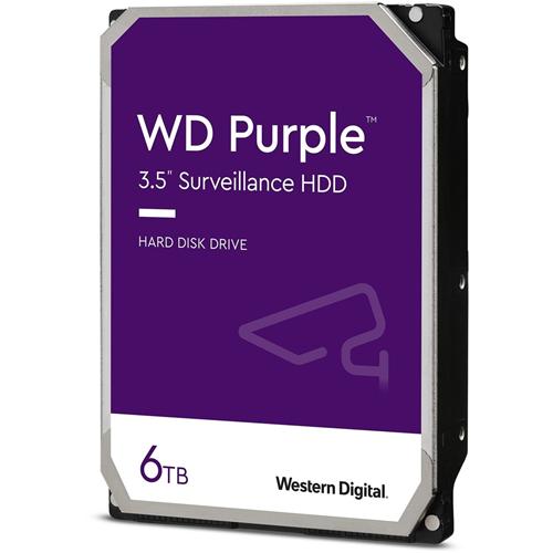 """Disque dur WD Purple WD62PURZ - 3.5"""" Interne - 6 To - SATA (SATA/600) - Haut volume d'écriture - Système de Vidéo Surveillance Appareil compatible - 5640trs/mn"""