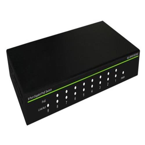 Commutateur Ethernet W Box 9 Ports - Gigabit Ethernet - 10/100/1000Base-T - 2 Couche supportée - Système d'alimentation - 130 W Budget PoE - Paire torsadée - PoE Ports - À vie Garatie limitée