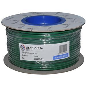 Cable vidéo elbaC - Coaxial - pour Système de Vidéo Surveillance - 100 m - Fil Dénudé - Fil Dénudé