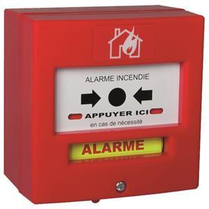 NEUTRONIC 4710R1-RF Poussoir manuel Pour Détecteur de fumée - Blanc, Rouge - Acrylonitrile butadiène styrène (ABS)