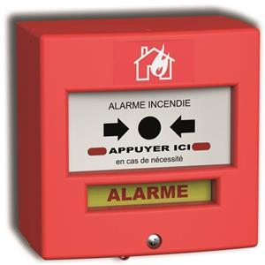 NEUTRONIC 4710R1 Poussoir manuel Pour Détecteur de fumée, Intérieur, Extérieur - Rouge