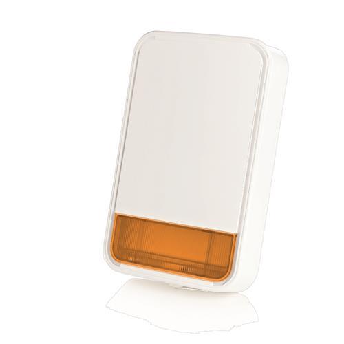 Sirène/Lumiére stroboscopique Visonic - Sans fil - 3,6 V DC - 110 dB - Audible, Visuel - Ambre