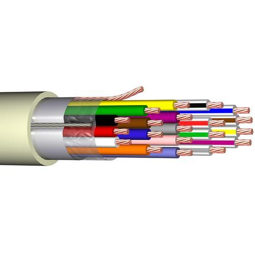 Câble de commande elbaC - pour Détecteur de fumée - 100 m - Fil Dénudé - Fil Dénudé - Blanc
