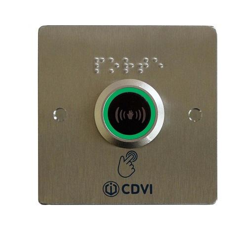 BOUTON POUSSOIR /plaque braille encastré