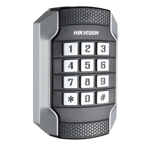 Lecteur de carte/Dispositif d'accès clavier Hikvision DS-K1104MK - Proximité, Code clé - 49,78 mm Plage de fonctionnement - Série - Wiegand - 12 V DC