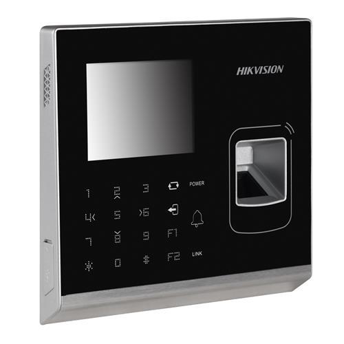 Dispositif d'accès pour lecteur biométrique ou à carte Hikvision DS-K1T200EF - Porte - Empreinte Digitale, Proximité - 300000 Utilisateur(s) - LCD - Fast Ethernet - Réseau sans-fil - Série - Wiegand - 12 V DC - Standalone