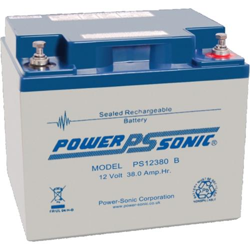 Batterie Power-Sonic PS-12380 - 38000 mAh - Scellées au plomb-acide (SLA) - 12 V DC - Batterie rechargeable