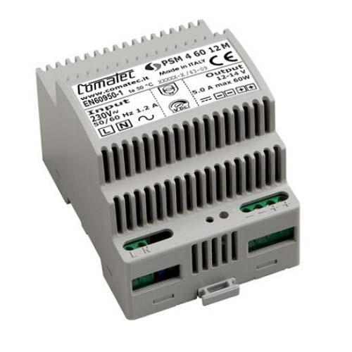 Système d'alimentation Comatec - 87% - 60 W - 120 V AC, 230 V AC Input Voltage - 12 V DC Tension de Sortie - Rail DIN - Modulaire