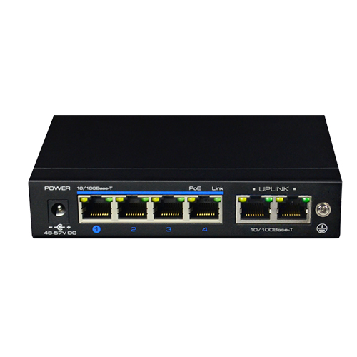 SWITCHES 60W- 4x100Mb POE + 2x100Mb