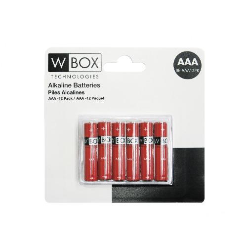 Batterie W Box - Alcaline - 12 Paquet - Polyvalente - AAA