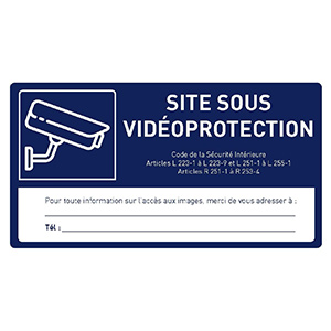 DIVERS VIDEO étiquette VIDEOPROTECTION