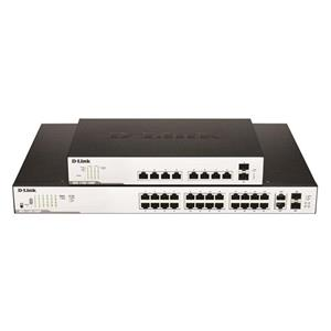 Commutateur Ethernet D-Link DGS-1100-10MP 8 Ports Gérable - 8 Réseau, 2 slot d'extension - Paire torsadée, Fibre Optique - 2 Couche supportée - Bureau