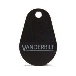 Porte clé noir plat incassable 13,56 MHz