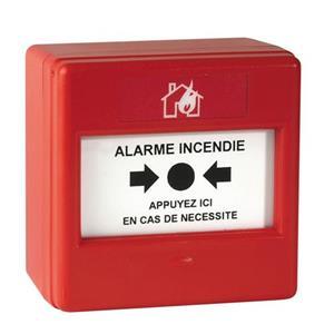 Cooper Poussoir manuel Pour Alarme - Rouge - Verre