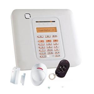 Kit radio Visonic Powermaster 10 + Détecteur d'ouverture + IRP + Télécommande