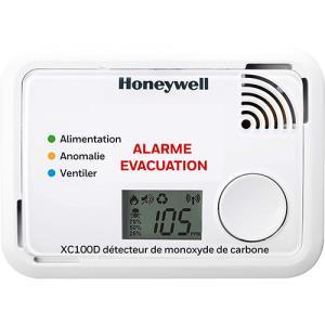 Détecteur Autonome De Monoxyde De Carbone Honeywell Avec Écran LCD Xc100 10 Ans